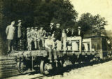 Lumbermen on Flat Car
